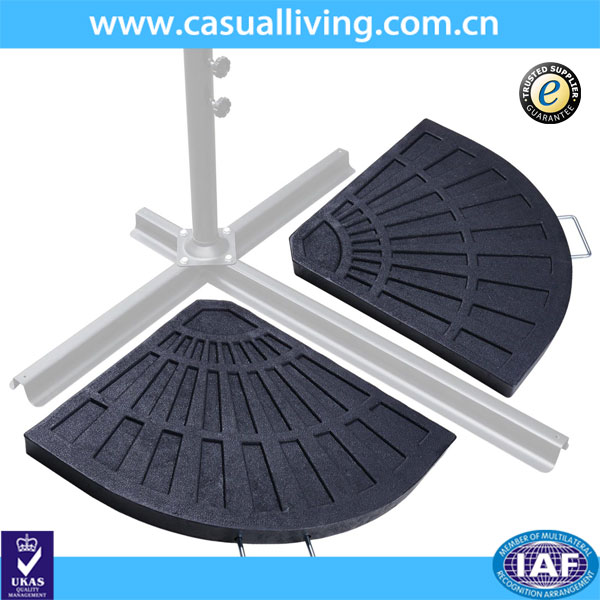 Outdoor Patio Offset Fan Shaped Umbrella Base