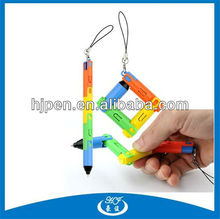 Plastic Promotional Creative Wonder Ball Pen Collapsible Pen