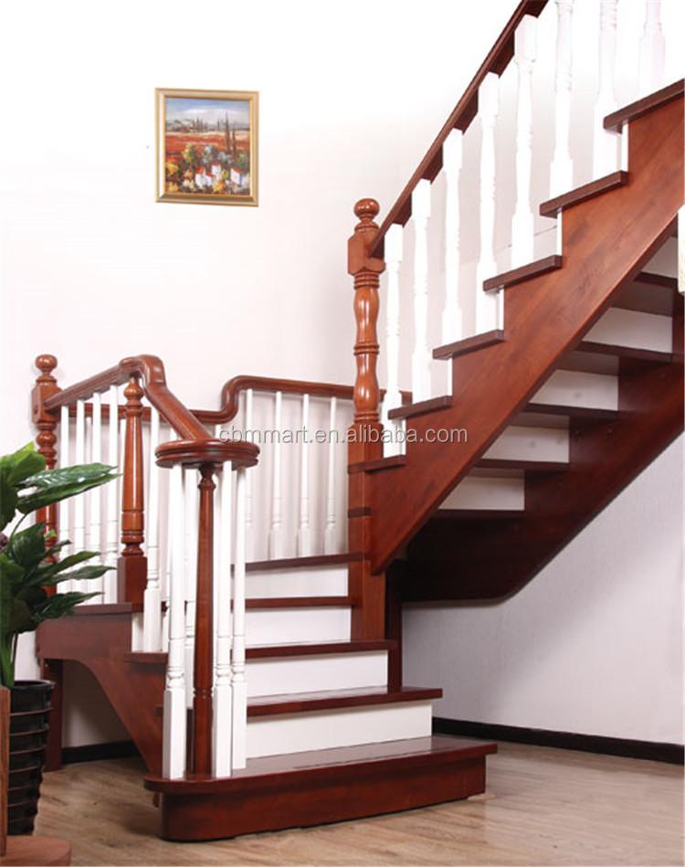 Escaleras en l escalera de madera giro u fabricada e for Escalera en l
