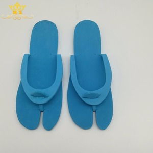 Hot sell comfortable blue EVA beach guest cheap slippers
