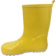 shiny yellow waterproof flat heels kids mature rain boots