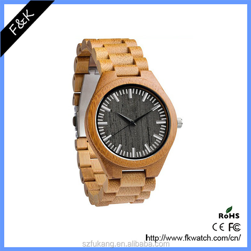 2017 fashion men simple wooden watch men luxury brand automatic