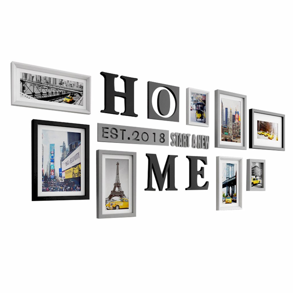 ZGP Home@Wall photo frame Multi Picture Frame Set, Photo Frame, Wall Frame Set, Large Photo Frame Wall Set, Home And Wall Decorations, Vintage Picture Frames, Gallery Wall Frame Set - 8/Set