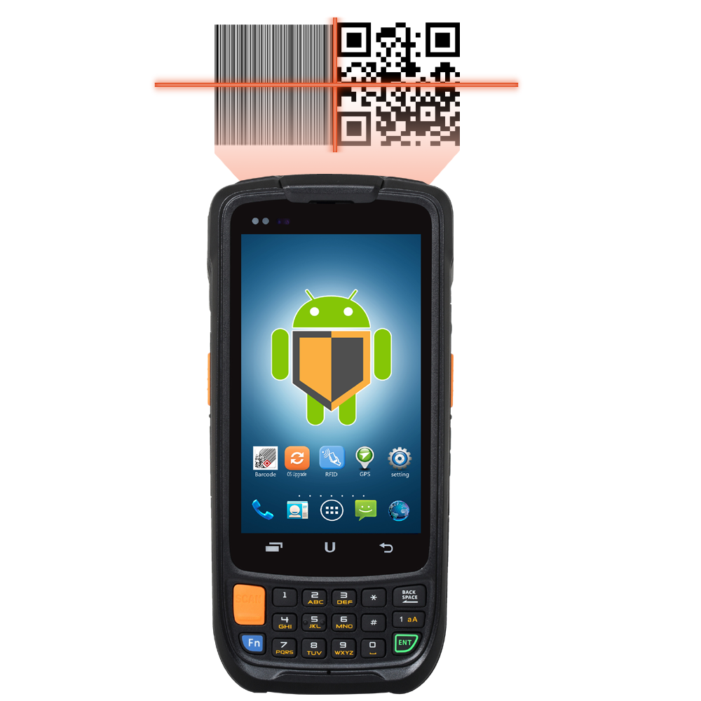 4G LTE handheld device barcode scanner case android
