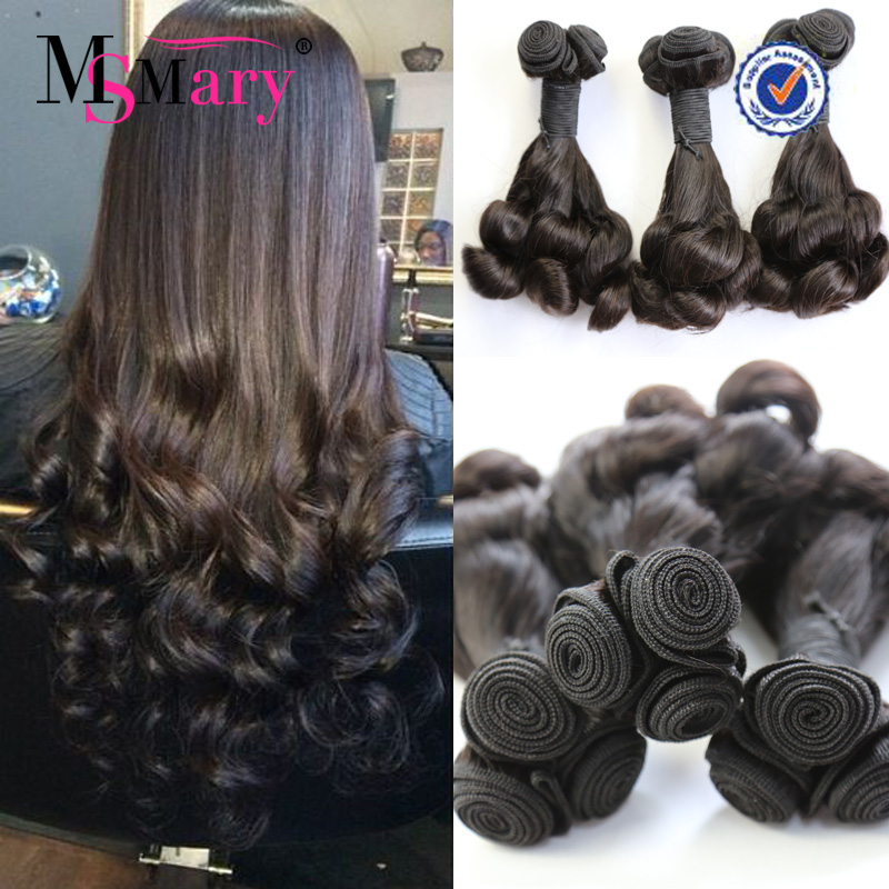 thinck ends double drawn fumi 100% remy Spring Curl grade 8a virgin hair