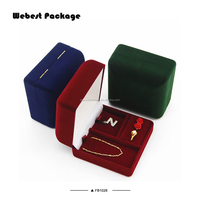 Webest cheap free shipping antique luxury style storage jewellery flocked flocking box jewels