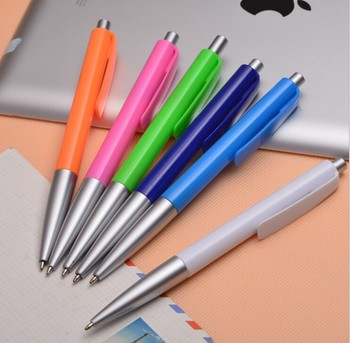 Hot sale plastic ball pen colorful thin ballpoint pen