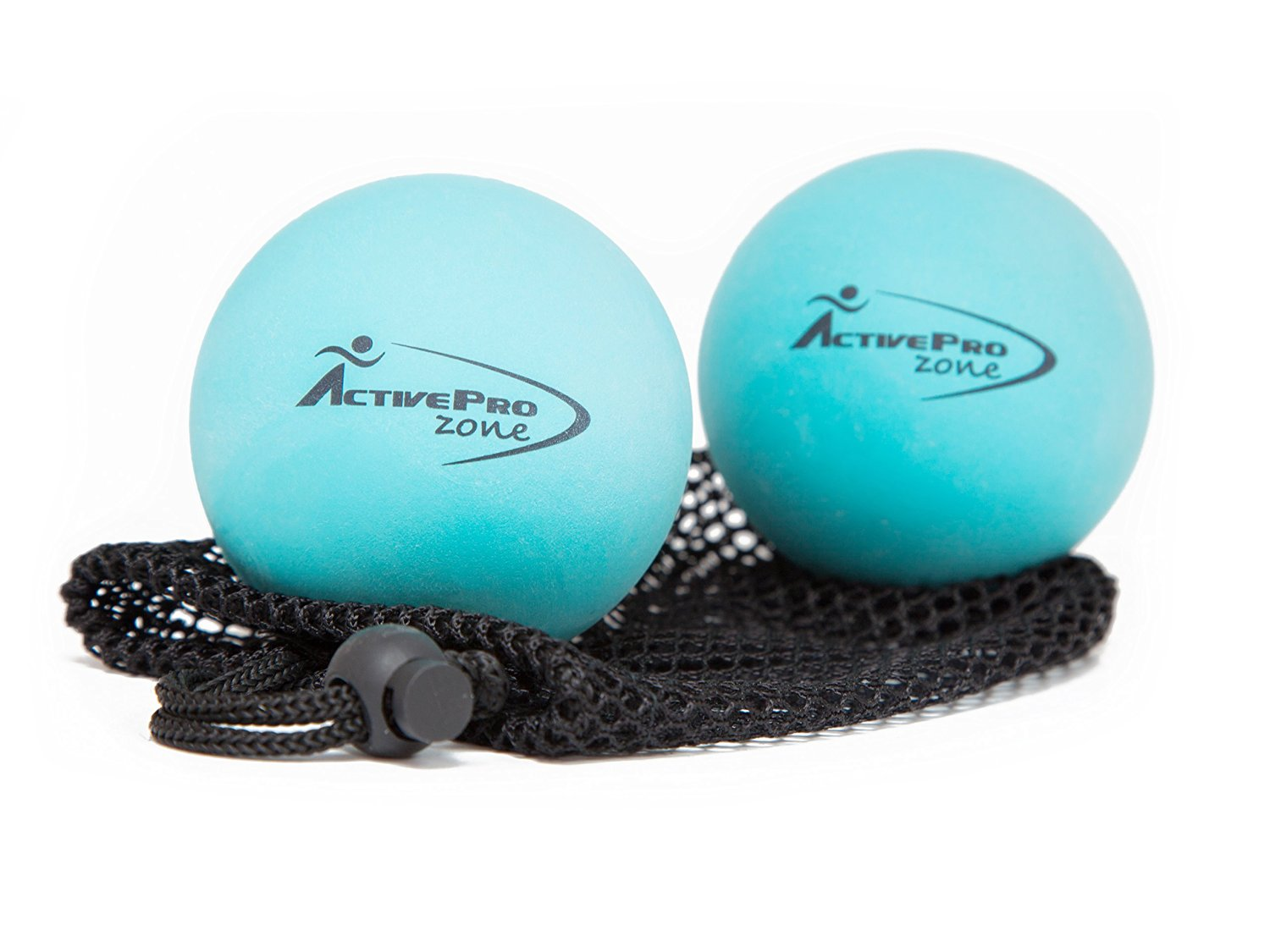 ActiveProZone Therapy Massage Ball - Instant Muscle PAIN RELIEF. Proven EFFECTIVE for Myofascial Release , Deep Tissue Pressure , Yoga & Trigger Point Treatments. SET - 2 Extra Firm Balls W/ Mesh Bag