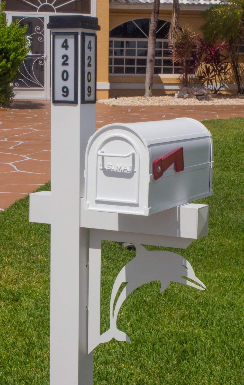 BrightLight Custom Aluminum Dolphin Mailbox Bracket