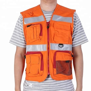 custom High Visibility Heavy Duty Multi Pockets Flame Resistant ANSI Work Construction Security hi vis tactical Vest
