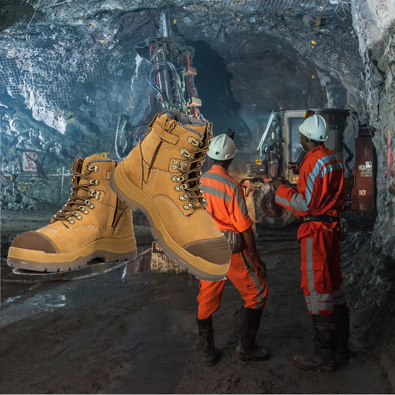 nubuck TOP leather steel safety mining with quality boots boots australian toe Construction safety qqxr4wZ