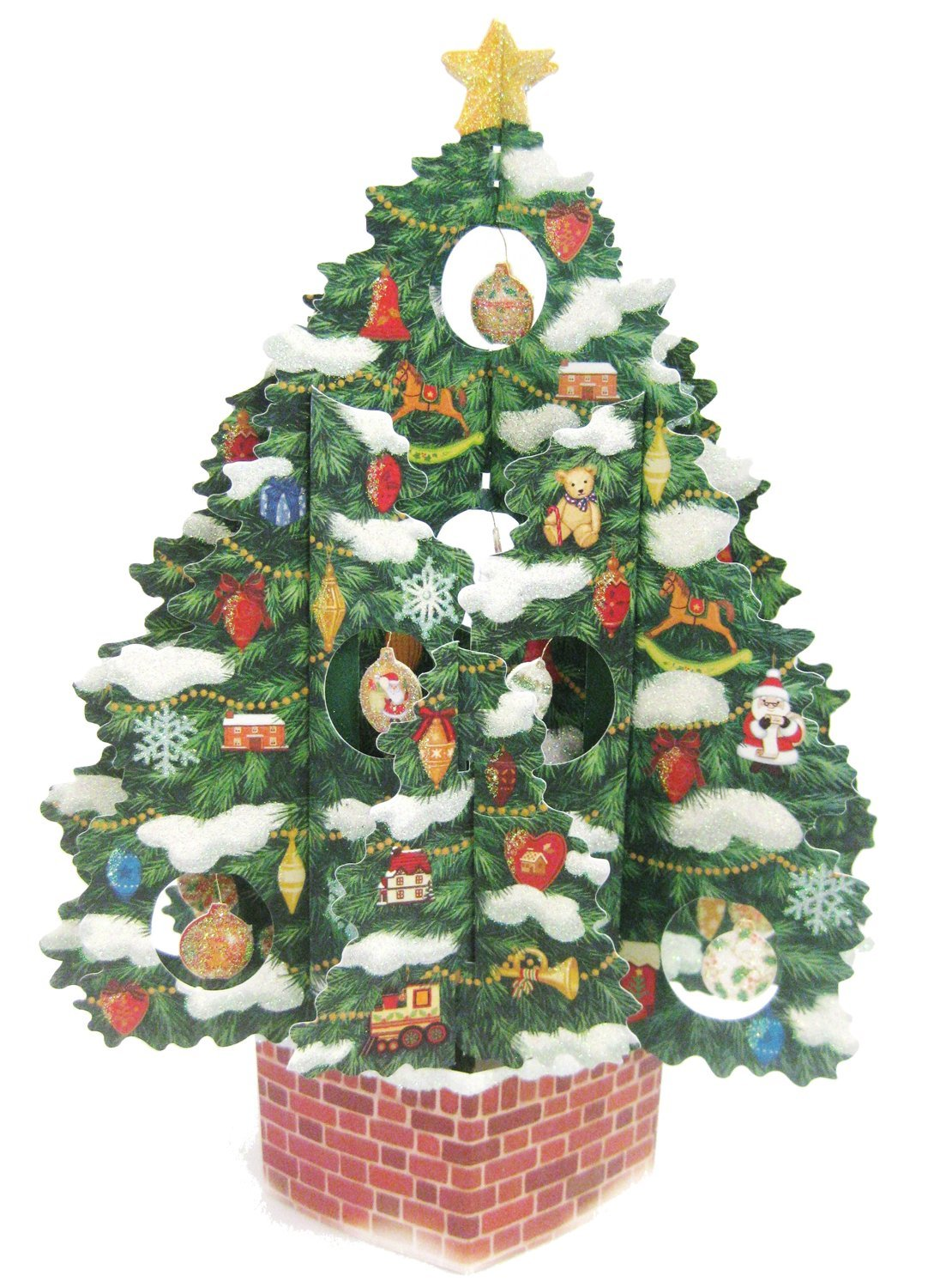 Buy Christmas Tree Pop Up Christmas Greeting Card - Pop Up 3D ...