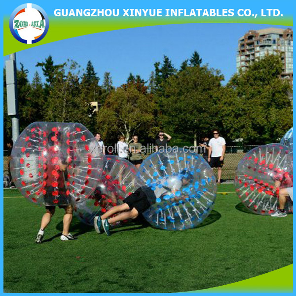 Excellent quality inflatable soccer bubble ball blower show