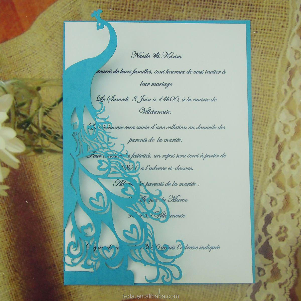 handmade peacock theme wedding invitation card  buy  wedding, invitation samples