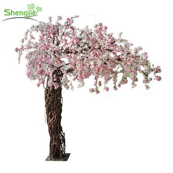 Latest Design Artificial Hanging Cherry Flowers Wedding Blossom Tree