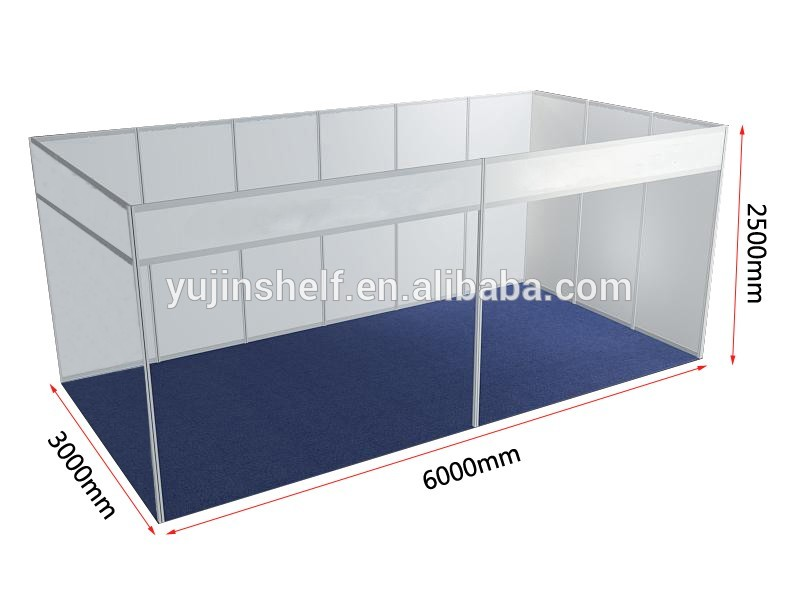 Shell Scheme Exhibition Stands : Two wall design aluminum exhibition booth shell scheme trade