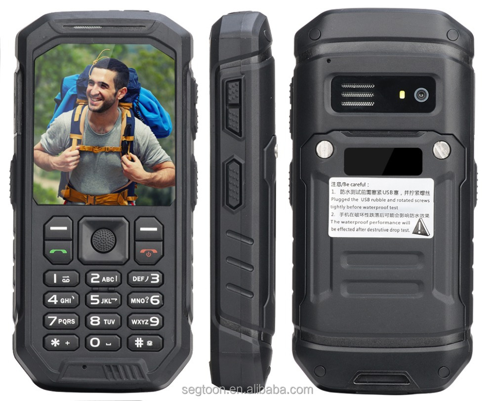 Hot Sale IP68 Phone Waterproof Dual <strong>Sim</strong> , 2.4 inch,with Walkie Talkie ,Power Bank Funciton