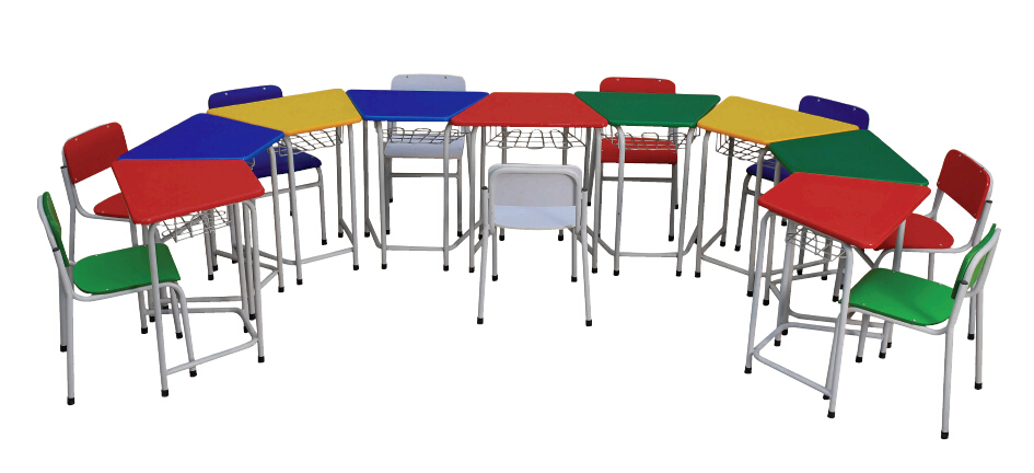 Colorful children desk and chair sets