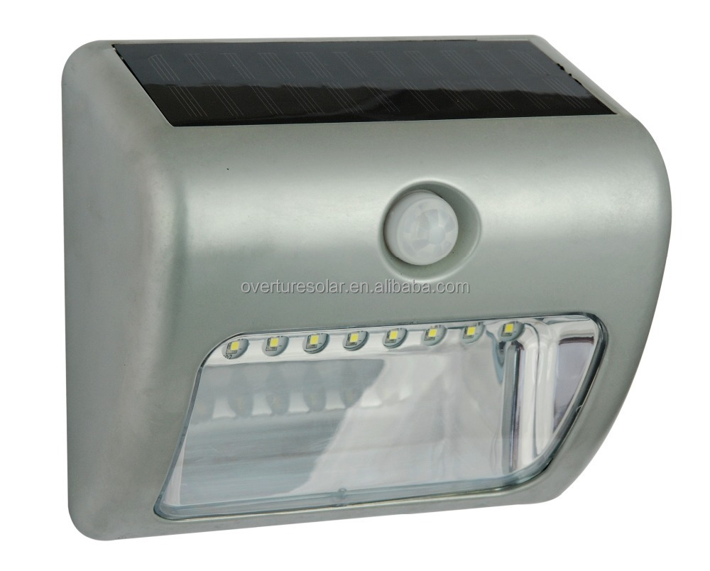 Solar Powered, Automatic Motion Sensor, Super Bright LED Aluminium Wall Mounted Path Accent/Security Light