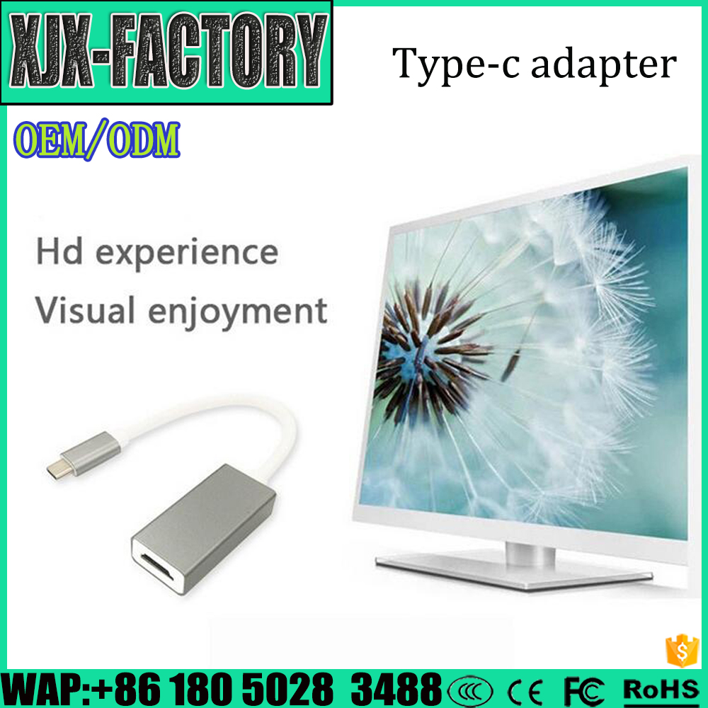 Professional usb type c connector Type C to HDMI Hub Adapter Cable with Silver Aluminium Case