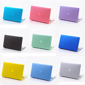 Matte/transparent rubberized pc cover case for macbook bags