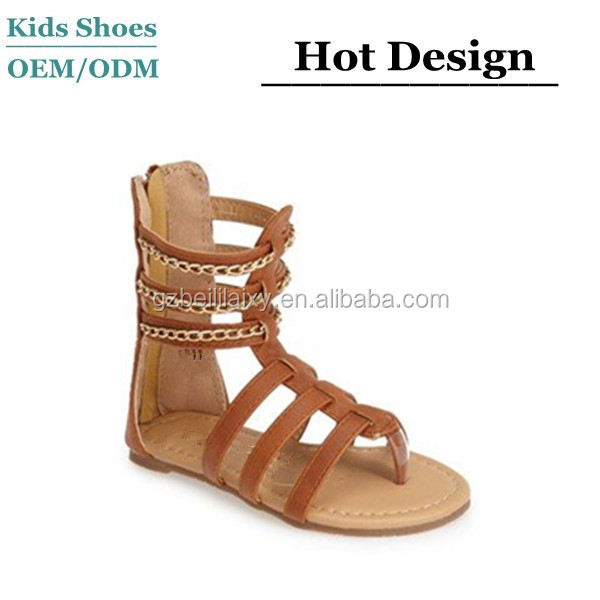 ec897034863d95 The Stylish New Kids Designs Flat Sandals Girls Summer Sandals shoes pu  leather high quality