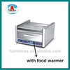 CE roller hot dog broiler and food warmer Flamemax