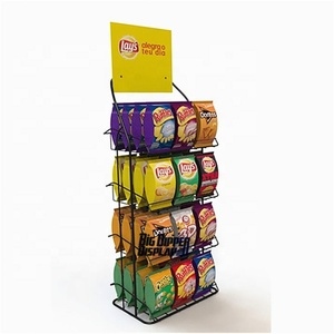 fresh style metal display stand for food