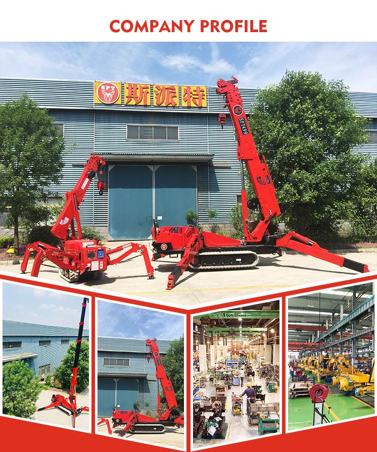 कारखाने की आपूर्ति के साथ छोटी सी इमारत क्रेन लहरा मिनी क्रॉलर चीन आपूर्तिकर्ता