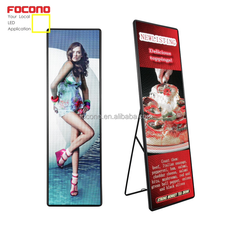 LED reclame video poster/display indoor floor stand android reclame scherm retail