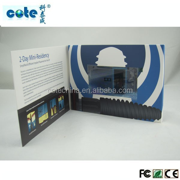 factory price !!! grand 5 inch greeting video cards/business video brochures/wedding invitaion video cards