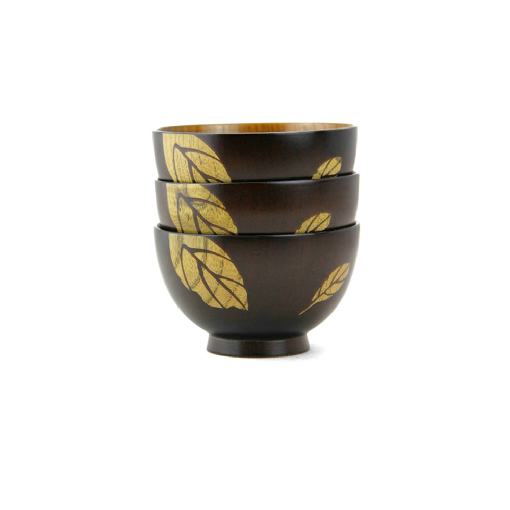 Leaf Design Pure Wood Eco-friendly Feature Handmade Wooden Bowl