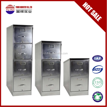 Stainless Steel 4 Drawer Vertical File Cabinet Two Drawer 3 Drawer File  Cabinet