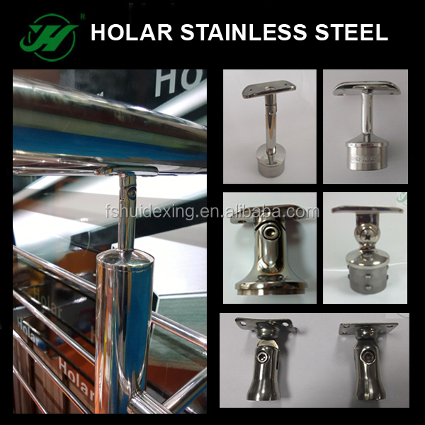 304 Stainless Steel Square Handrail Stair Parts