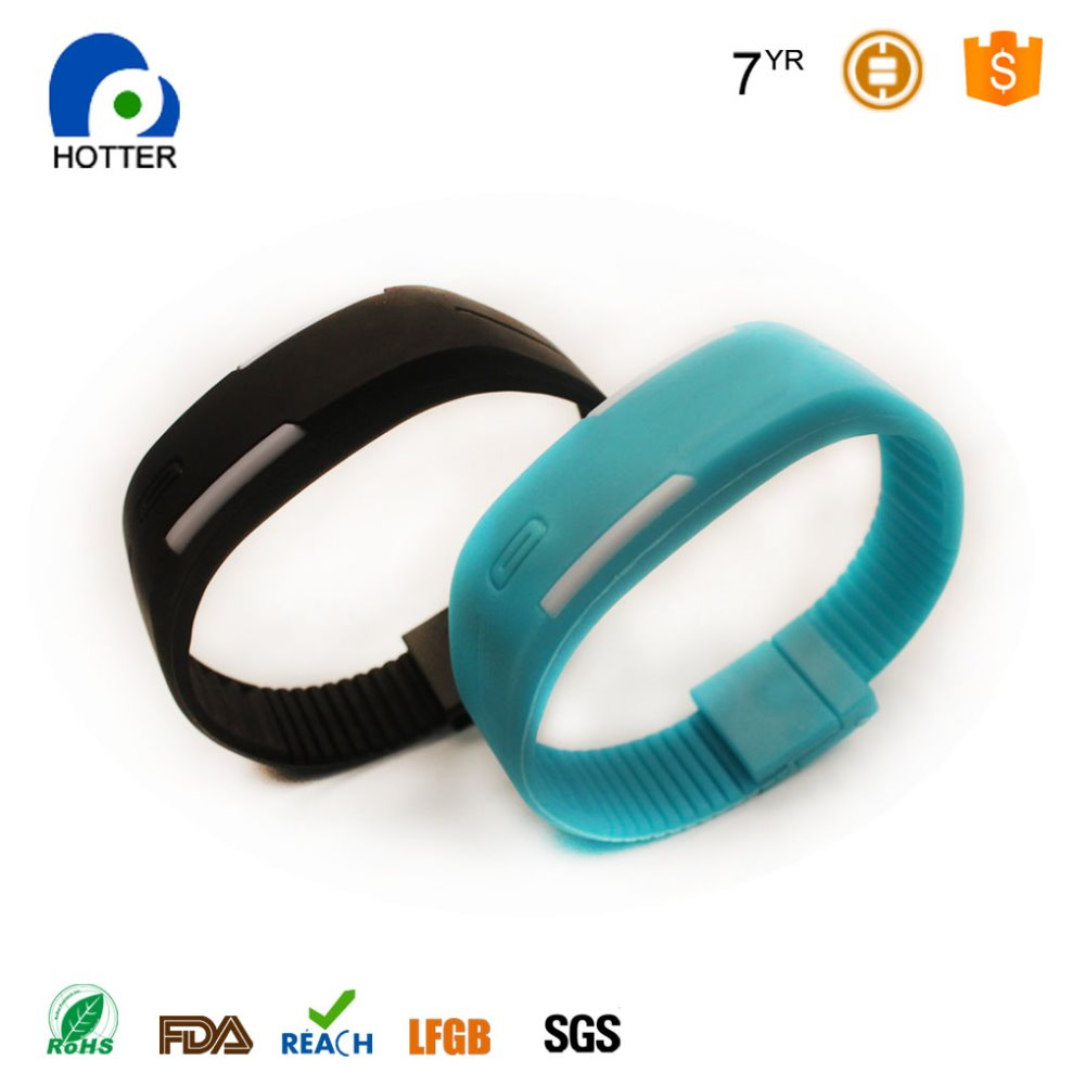 Fashion Sport LED Watches Candy Color Silicone Rubber Touch Screen Digital Watches, Waterproof Bracelet