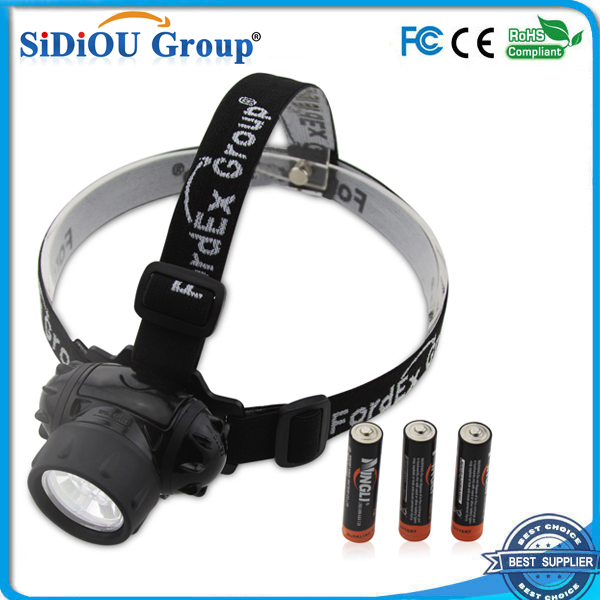 Fordex Group 7 LED Headlamp Headlight, Water Resistant , Head Safety Lamp, Flash Light For Cycling, Climbing, Mountain Biking
