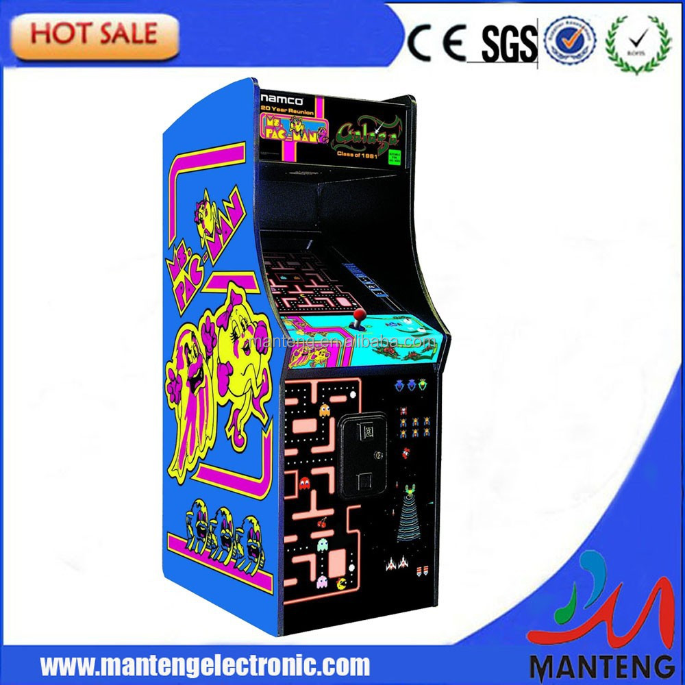 Ms Pacman cabinet with Galaga Pac man upright video arcade game