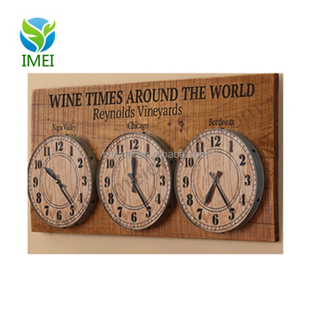 Ym07113 Wooden Signs Vintage Clock Home Decor With Uv Printing In Bar Style Buy Wooden Signs Home Decor Clock Vintage Home Decor Wooden Vintage