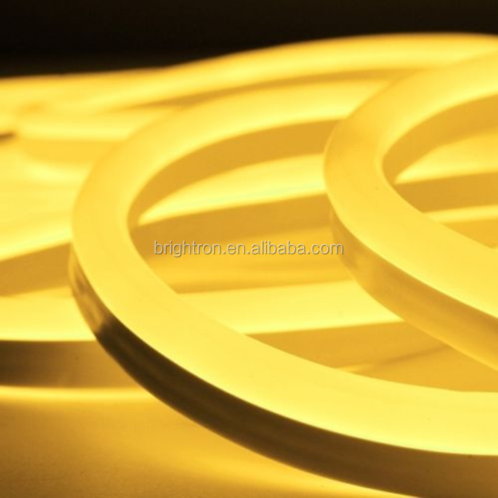 gold color led neon tube light neon light for bedroom home neon lighting
