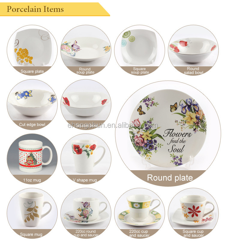 China housewares ceramic porcelain dinnerware plates set  sc 1 st  Alibaba & China Housewares Ceramic Porcelain Dinnerware Plates Set - Buy ...