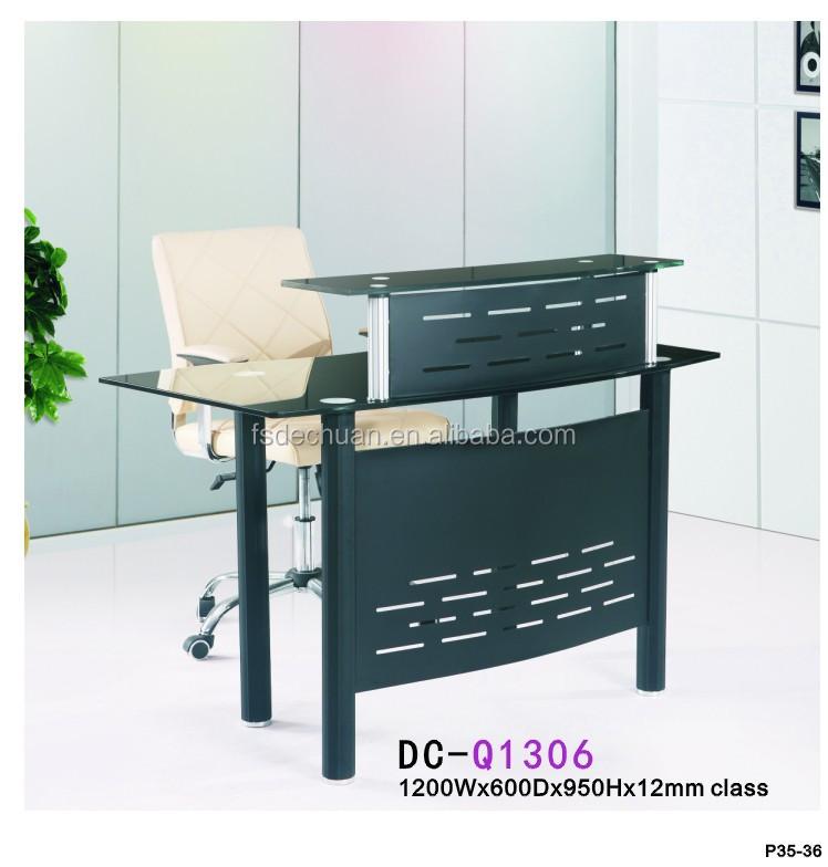 Oficina Moderna Puerta Delantera De Cristal Mesa De Recepción Para ...