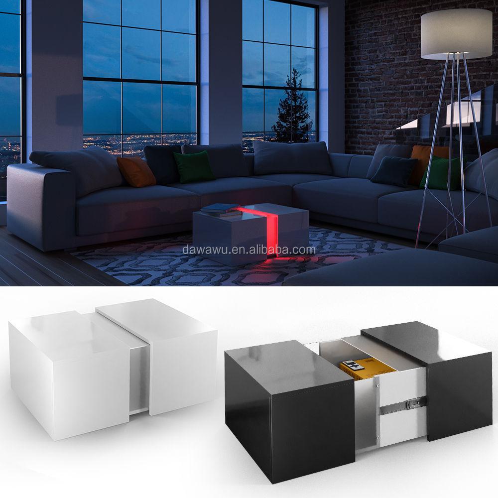 Couchtisch Led Loungetisch Wohnzimmer Tisch Sofa Couch Hochglanz