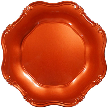 PZ25780 antique pink decorative plastic plate