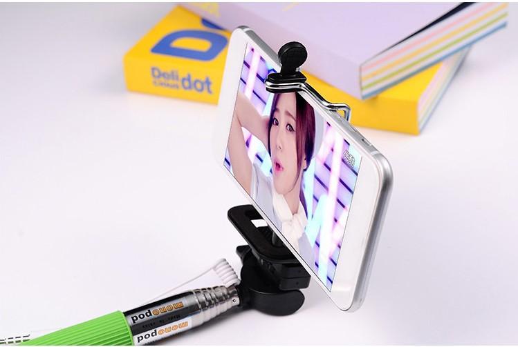 hot z07 5s selfie stick einbeinstativ f r handy kamera. Black Bedroom Furniture Sets. Home Design Ideas
