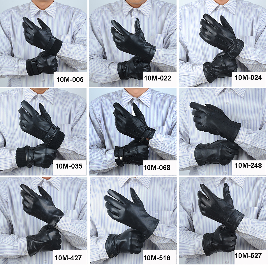 Leather driving gloves knuckle holes - Soft Sheepskin Mens Leather Gloves With Hole On The Knuckles Motorcycle Leather Driving Gloves