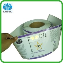 custom logo printed waterproof adhesive label for plastic shampoo bottles, shampoo label stickers