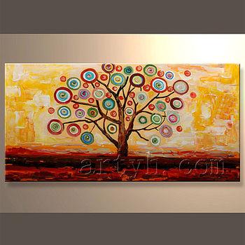 Moderne Wand Leinwand Art Acryl Malerei,Abstrakte Moderne Baum - Buy ...