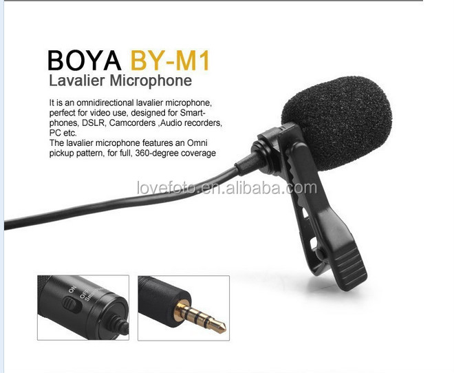 Cameras & Photo Video Production & Editing Lapel Microphone With Gold 3.5mm Jack Plug