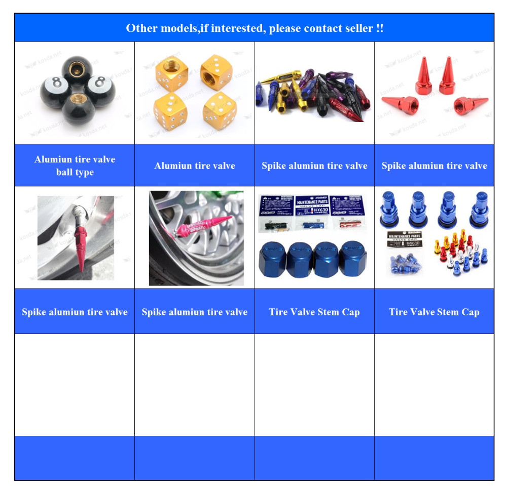 Tubeless tire valve stems,car tire valve caps,stainless steel tire valve caps