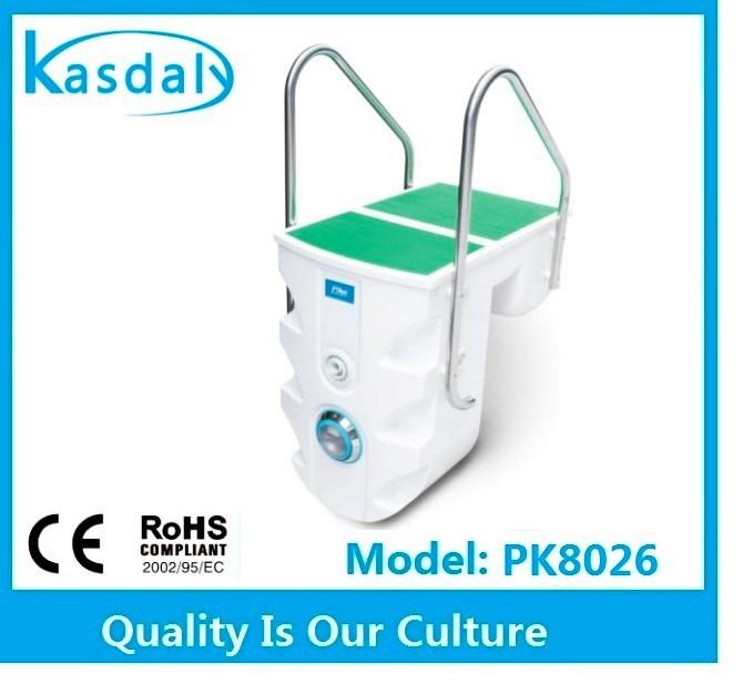 Pk8026 fabrica portable c scara de fibra de vidrio piscina for Fabrica de piscinas de fibra de vidrio